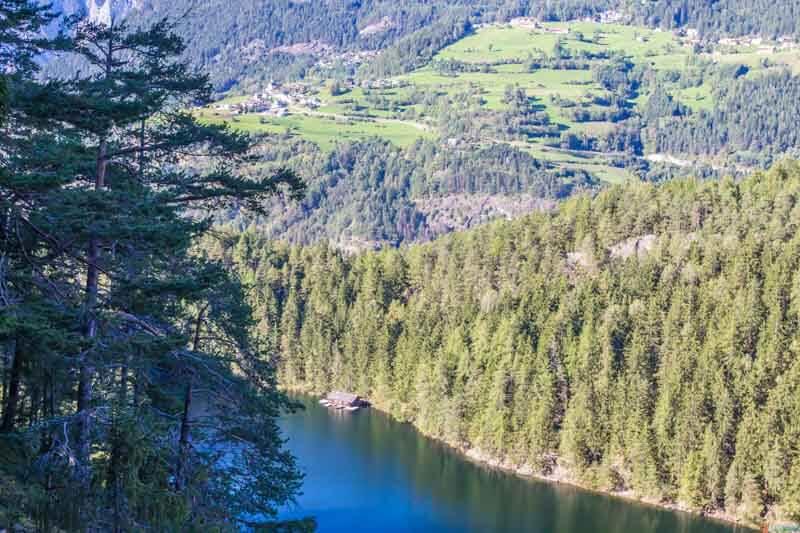 Piburger See Lake from above Otztal Austria