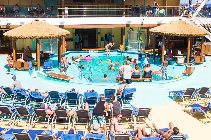 Beach pool on Carnival Vista