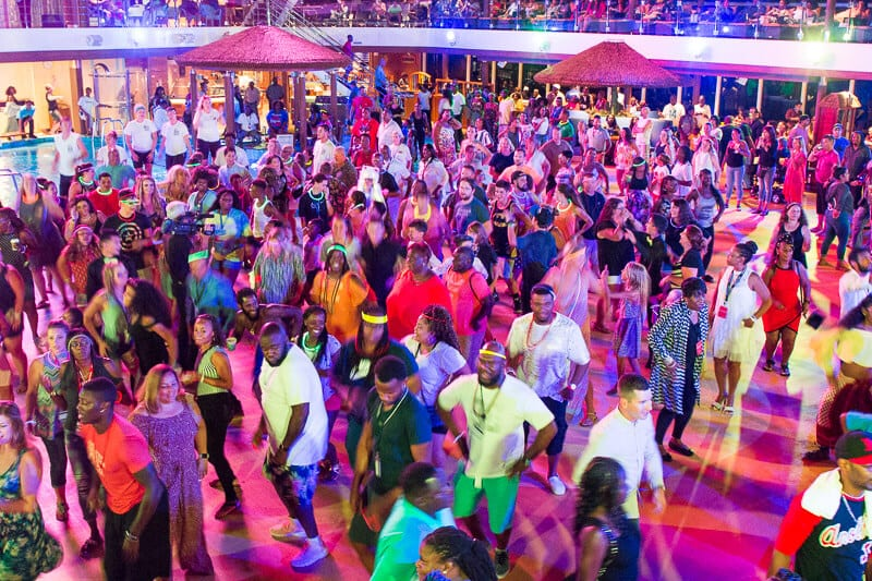Mega deck party on board Carnival Vista