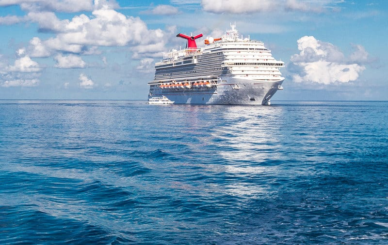 Carnival Vista Ship in the Grand Caymans