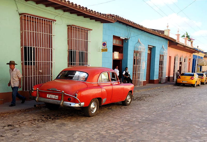 Common street scene you will see when you visit Cuba