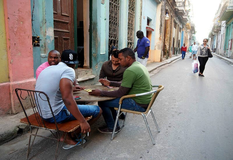 Common street scene you'll see when traveling to Cuba