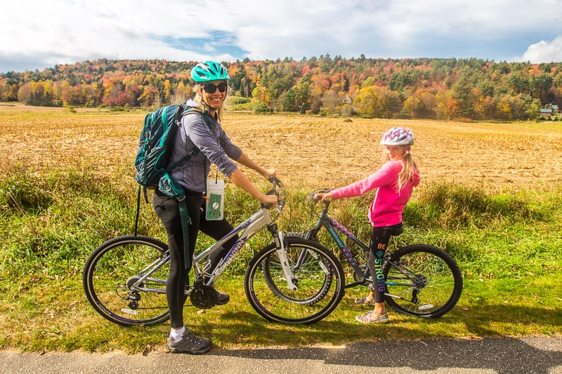 family friendly bike ride on the Stowe Recreation Path in Vermont New England (2)