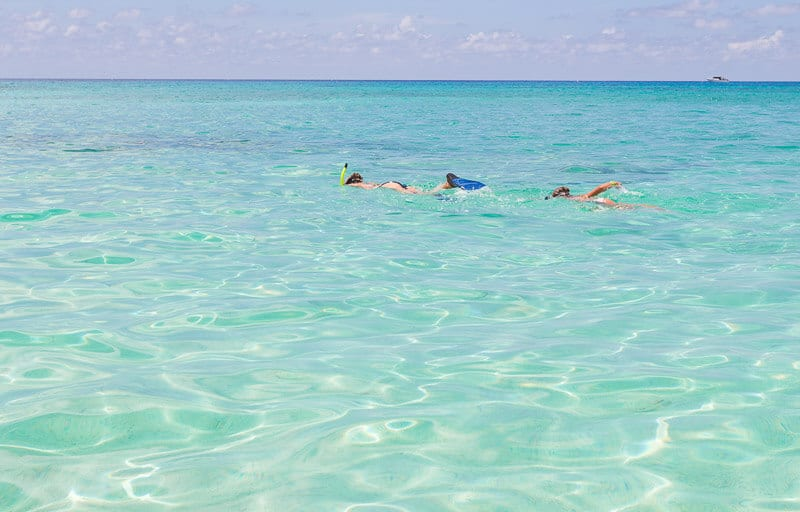 Snorkeling at Spotts Beach in the Grand Cayman Islands