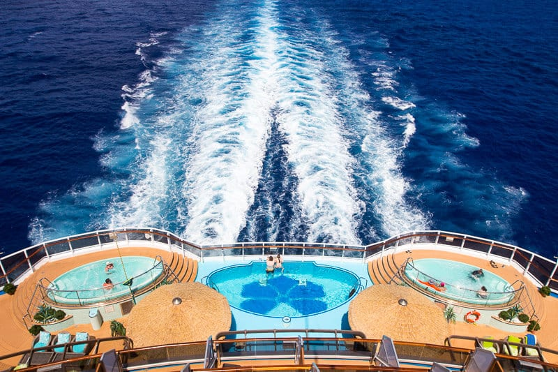 Havana pools on board Carnival Vista