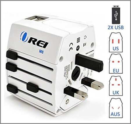 International travel adaptor - one of the best travel accessories