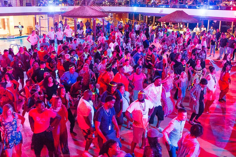 nightly dance party Carnival Vista cruise