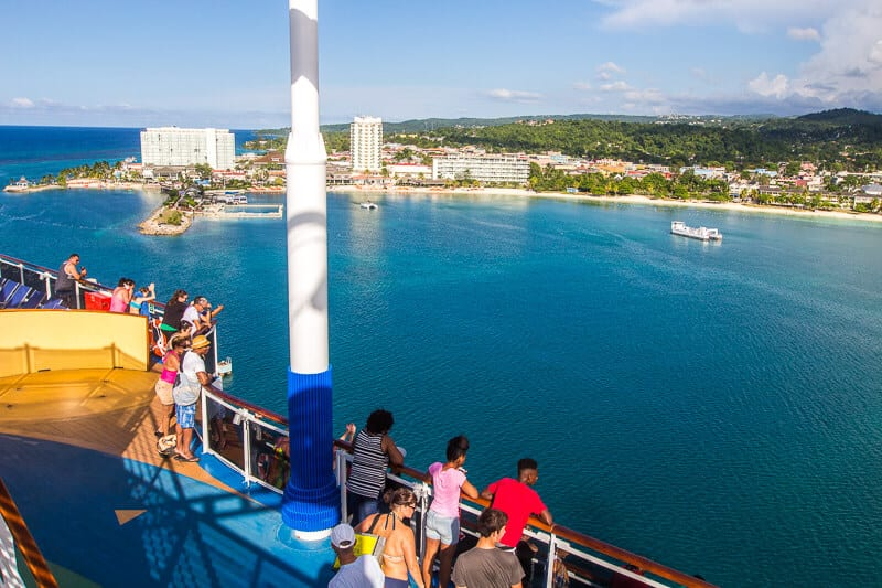 Ocho Rios in Jamaica viewed from Carnival Vista