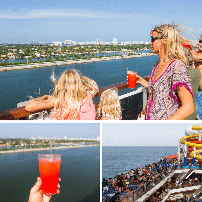 Sailaway party on board Carnival Vista for a 6 night western Caribbean Cruise