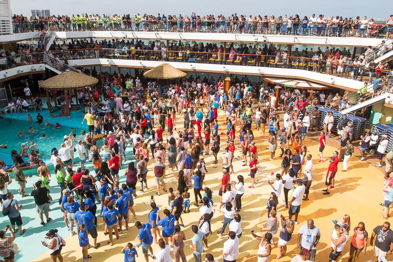 Sailaway party on Carnival Vista