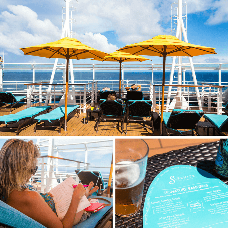 Serenity deck on board Carnival Vista