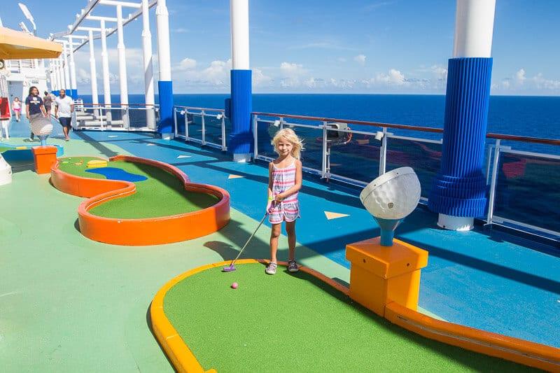Mini gold on board Carnival Vista was so much fun!