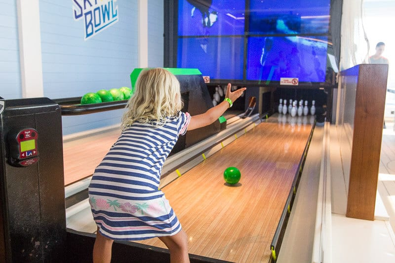Min bowling was a ton of fun on board Carnival Vista