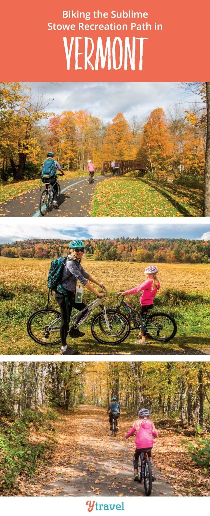 Looking for a great family friendly bike ride in the USA? Biking the Stowe Recreation Path in Vermont New England is one of those! Click to read more. Happy Pinning
