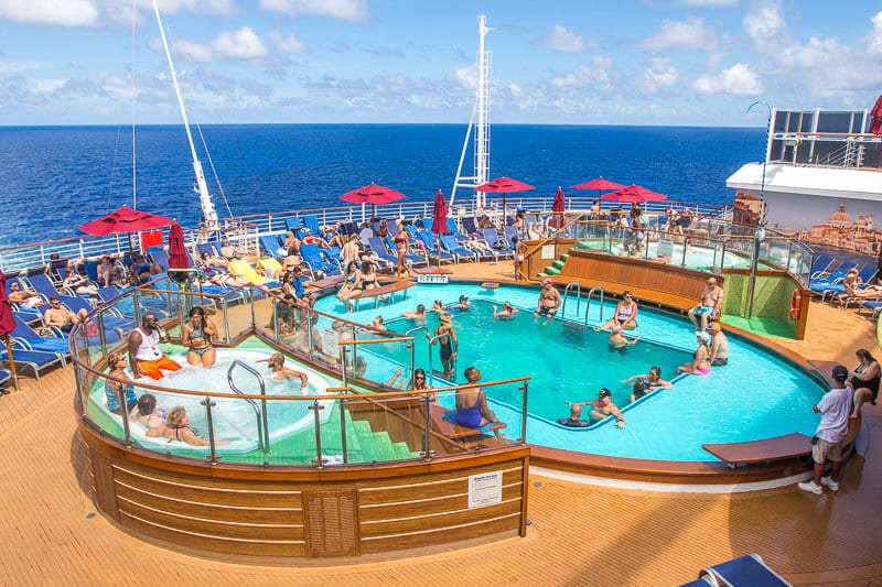 Tides Pool on board Carnival Vista