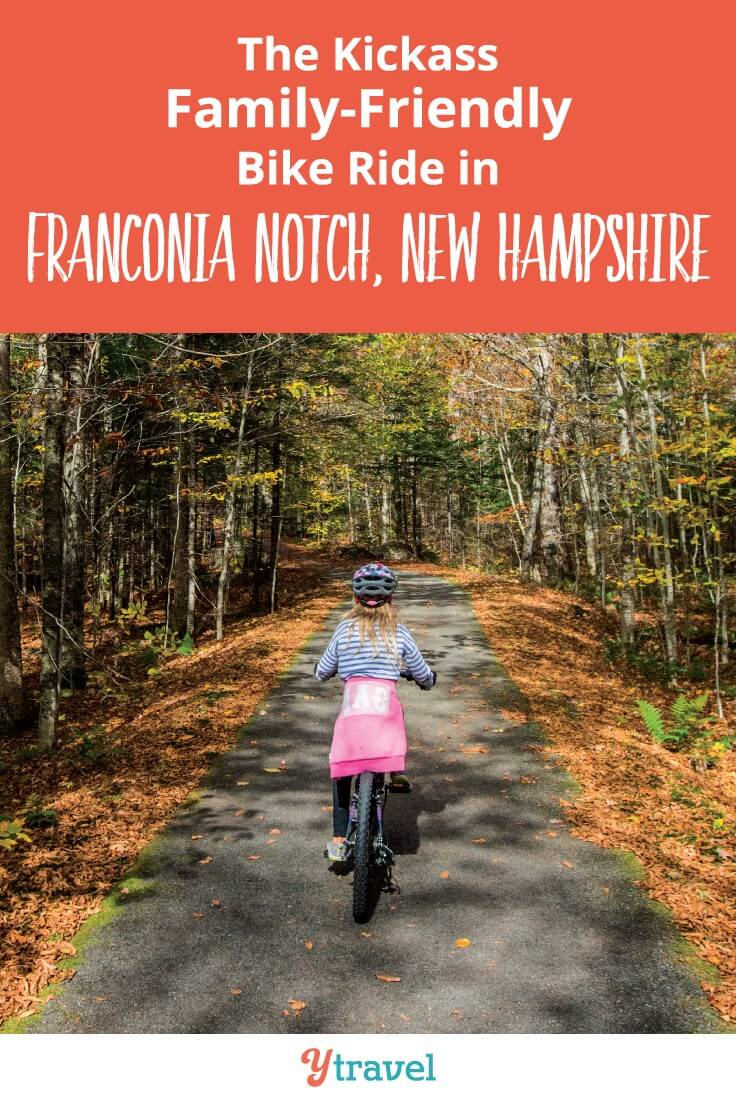 Family-Friendly White Mountain Bike ride in Franconia State Park New Hampshire? Apparently the recreation path through Franconia Notch is - we weren't so sure, but had a fun cycling adventure to share. click to read more.