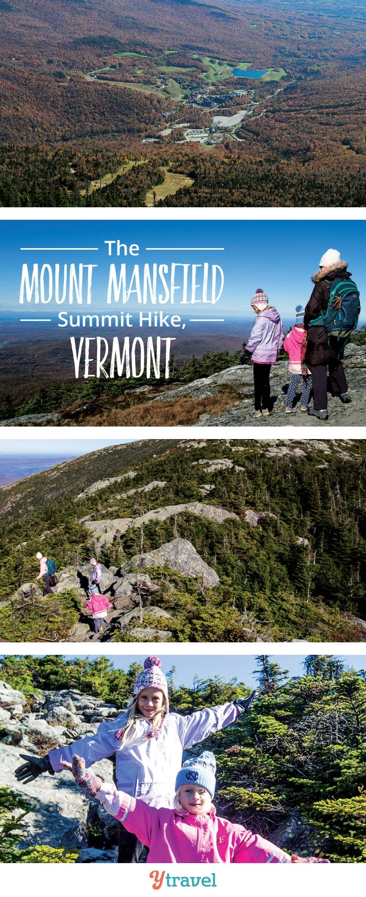 Not sure if there is a family friendly hike in Mount Mansfield in Vermont? Your kids will love this ridge walk to the summit of Mt Mansfield in Stowe. Epic 360 views #Familytravel #Vermont #NewEngland #hikes #MountMansfield #Stowe