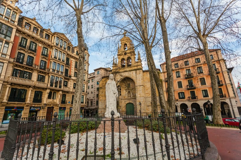 San Vicente Squarein Bilbao - Basque Country, Spain