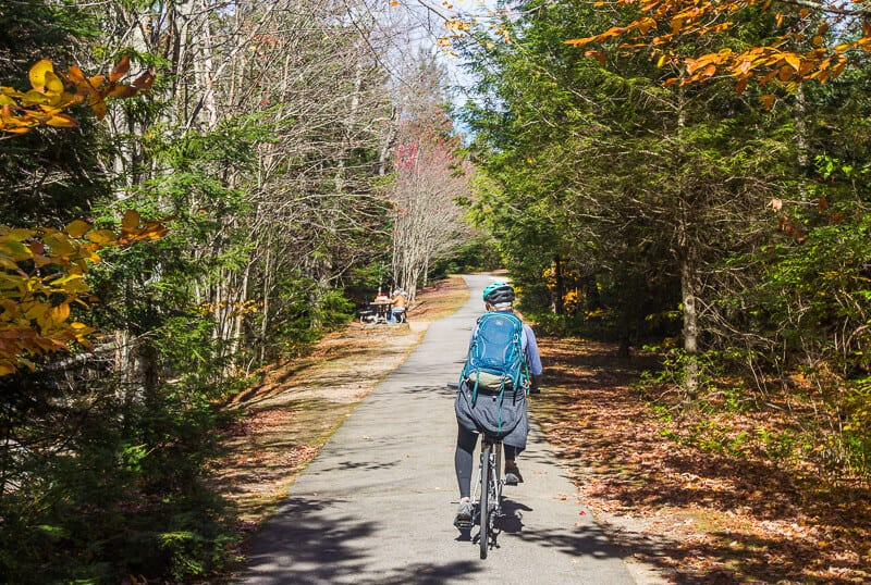 White Mountains bike ride NH
