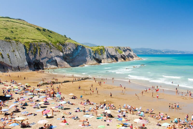 Beach in Zumaia - Basque Country