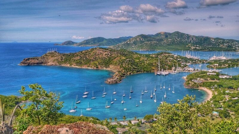 antigua caribbean island hopping