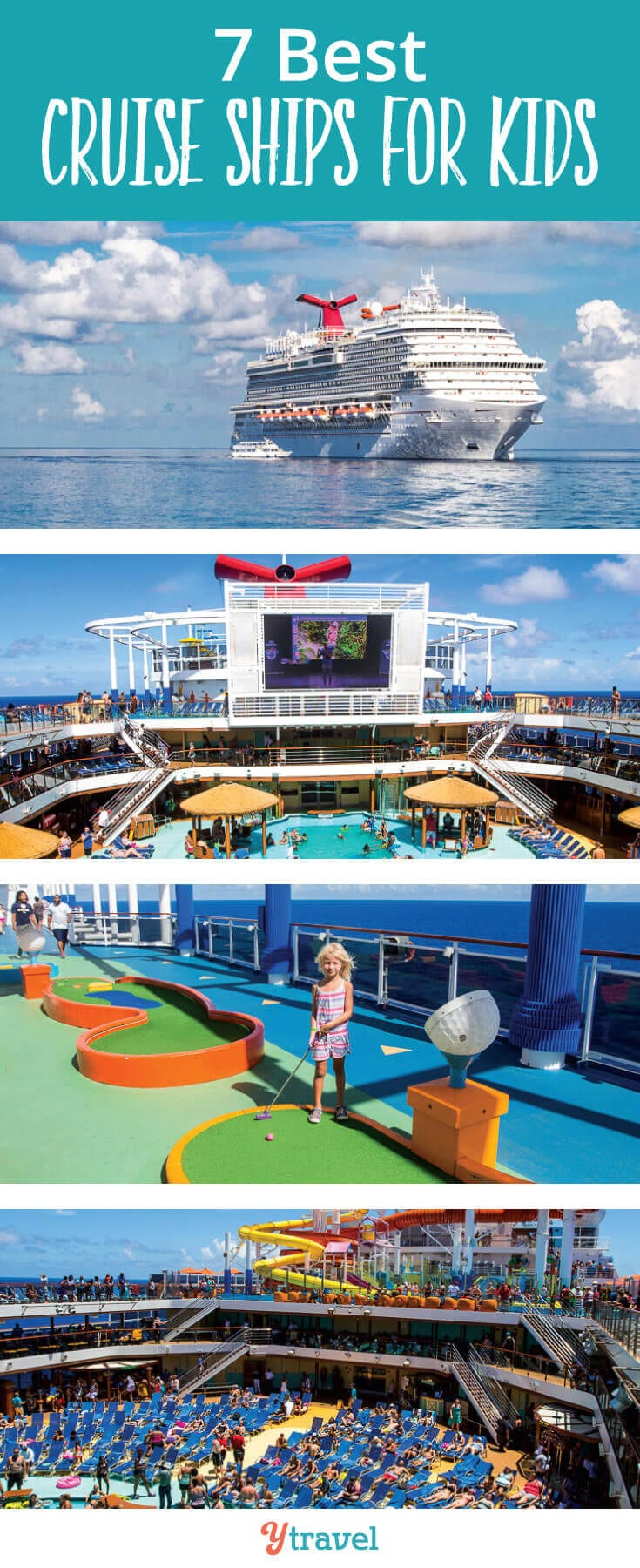 Wondering what the best cruise ships for kids are? 16 year old Lewis has been taking family cruises for years and shares his inside knowledge on the 7 best cruise lines for your next family cruise. #FamilyTravel #cruise #cruises #familycruise