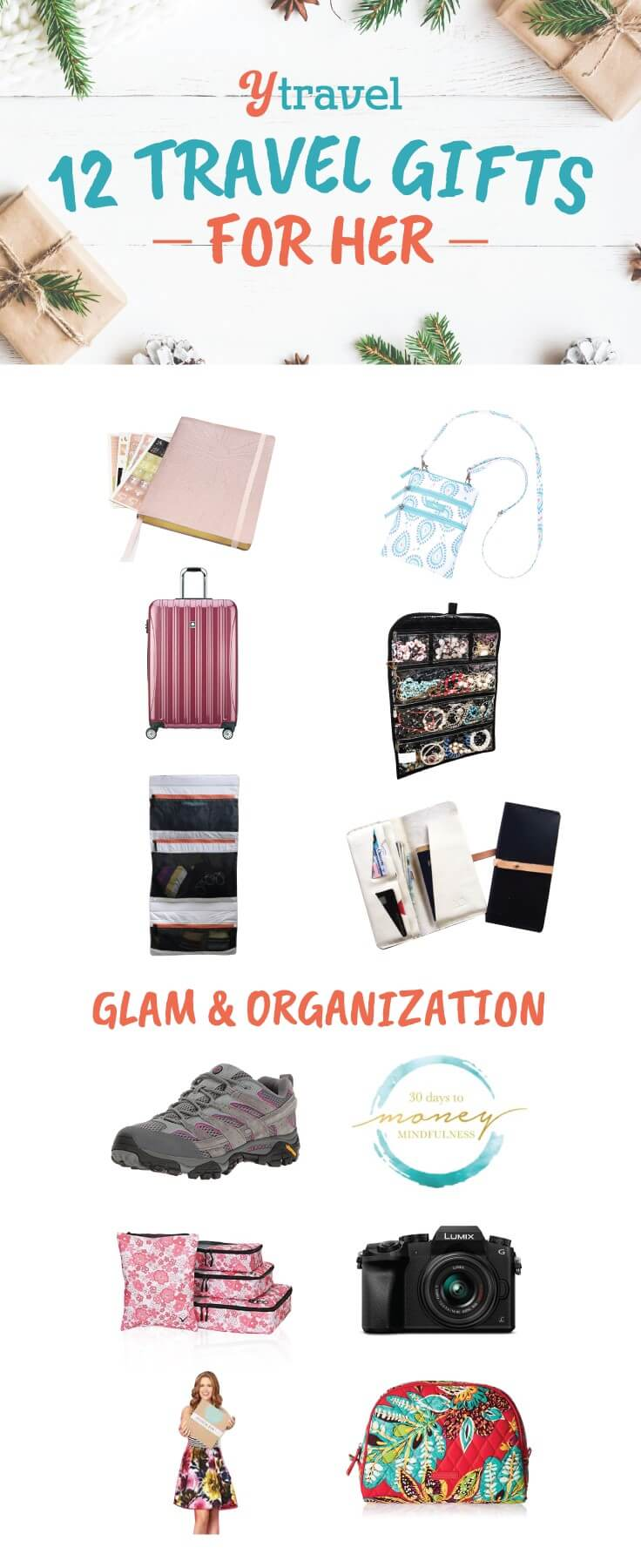 Travel gifts for her. Looking for the best travel gifts for her this holiday season? I share my favorite travel products and services that offer the woman you love glam and travel organization. Great travel gift ideas ahead!