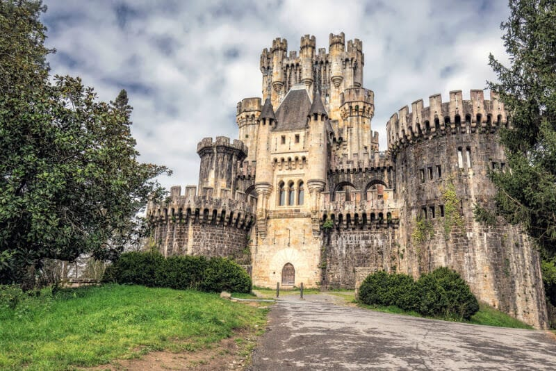 Medievil Castle of Butron in the Basque Region of Spain