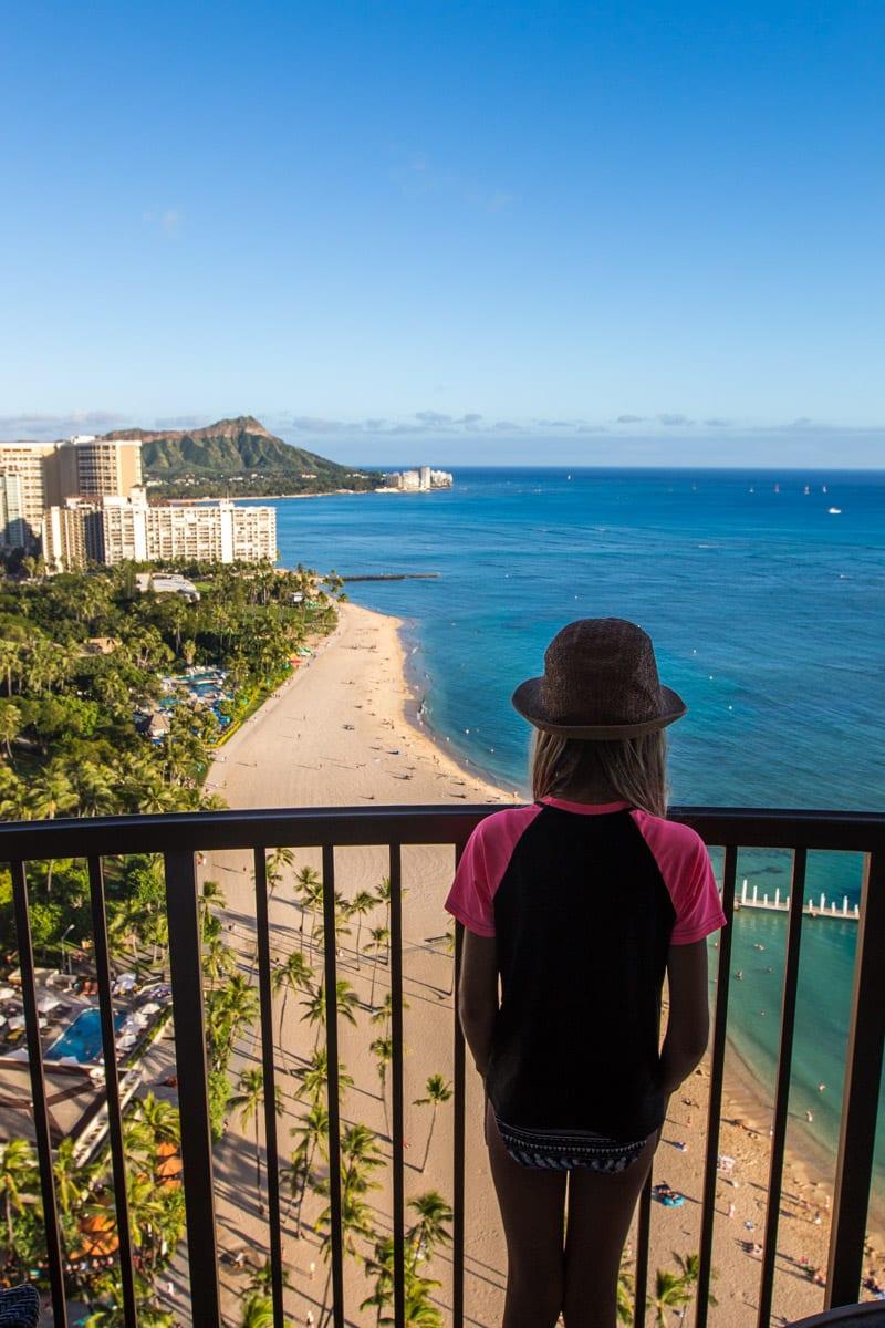 View of Waikiki Beach from Hilton Hawaiian Village Resort