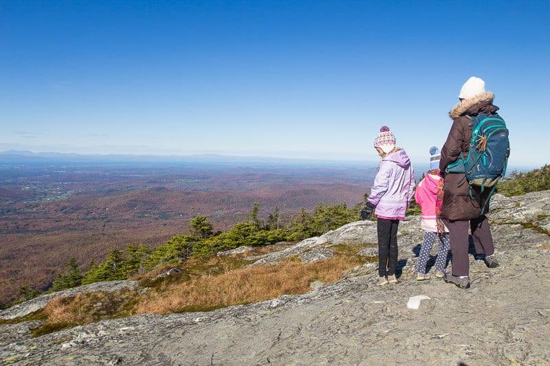 Mt Mansfield summit ridge walk Stowe Vermont