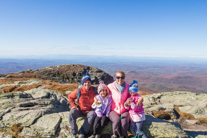 the ridge walk to the summit of Mount Mansfield Vermont