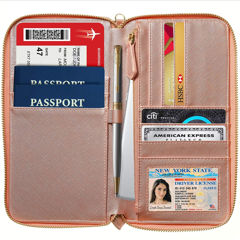 Gili Scattered Planet Travel Passport /& Document Organizer Zipper Case