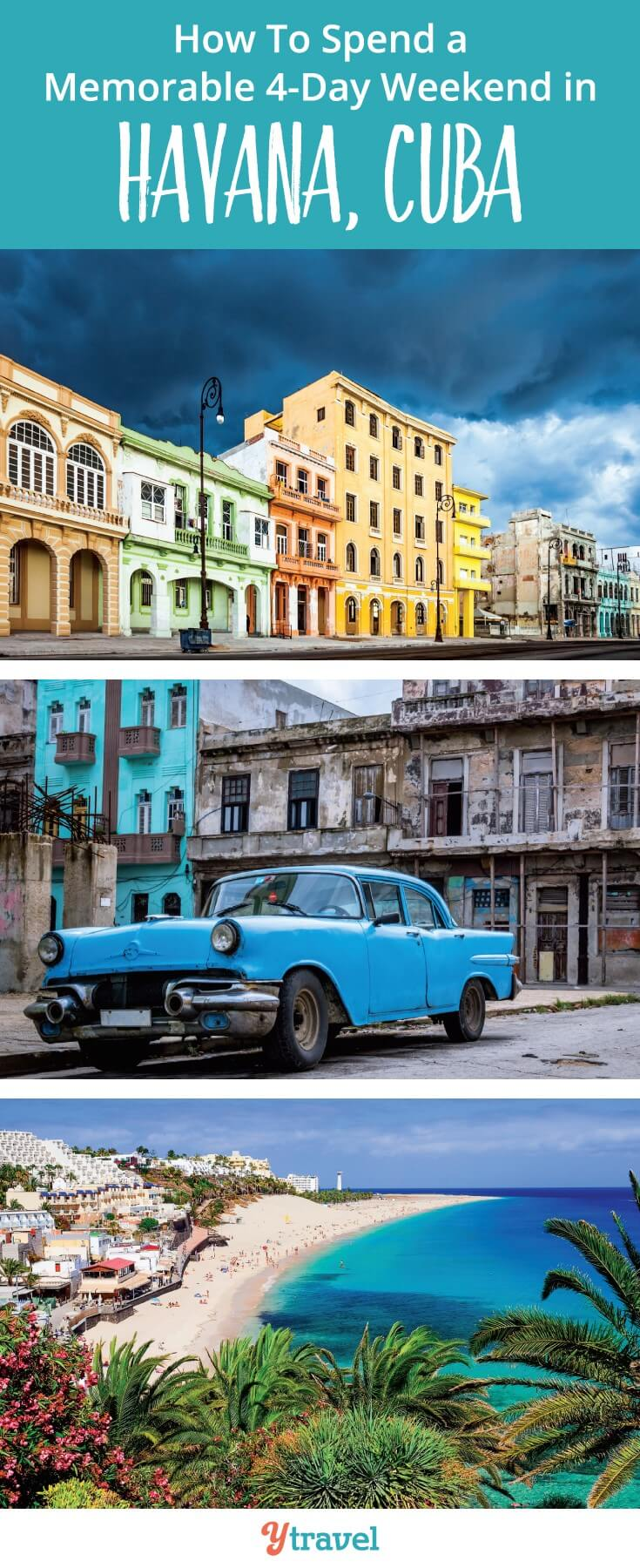 How to spend a 4 day weekend in Havana Cuba. What a great idea to visit Cuba for a weekend. It's so easy to do from the USA.. at the moment. Quick before you can no longer go!