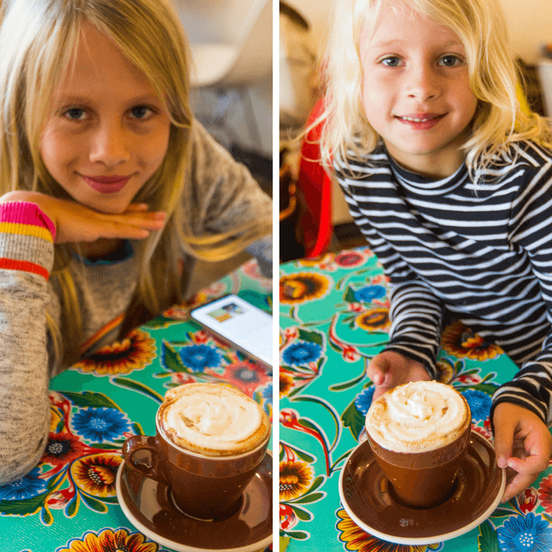 Great hot chocolates at Cocoa Cinnamon Cafe in Durham, North Carolina. #Durham #NorthCarolina #FamilyTravel