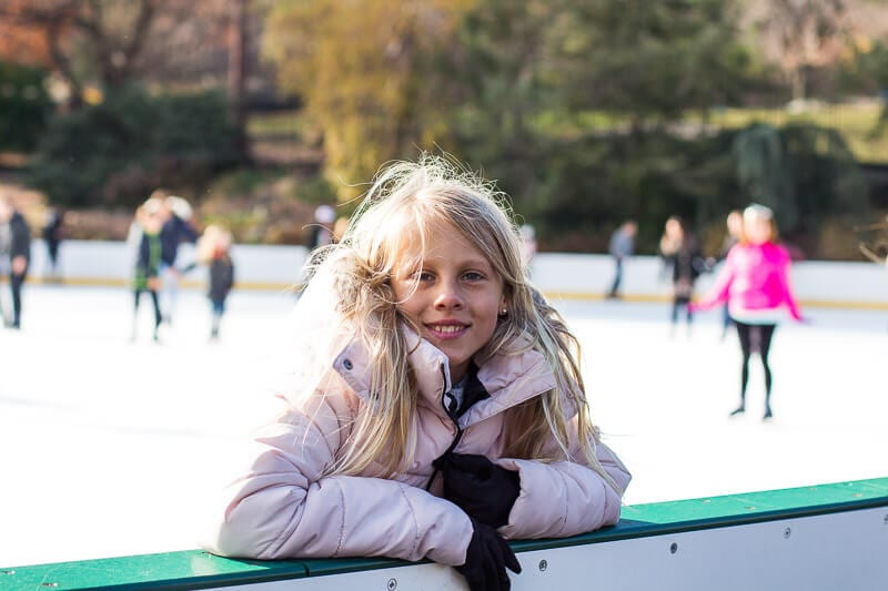 Ice skating with kids Wollman Rink CEntral Park
