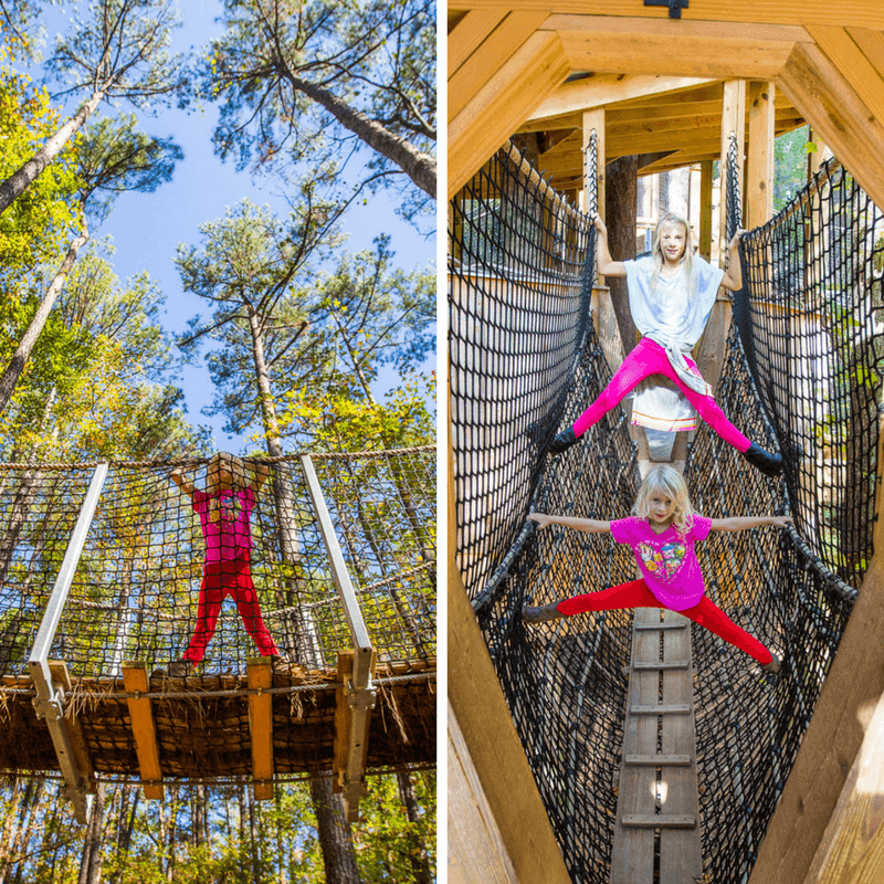 Tree houses at the Museum of Life & Science in Durham, North Carolina. #Museum #Durham #NorthCarolina