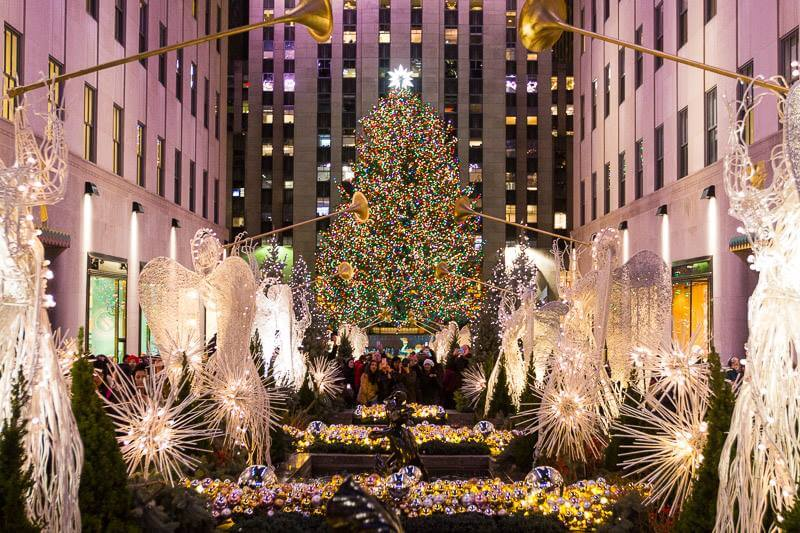 Rockefeller Plaza New York City at Christmas