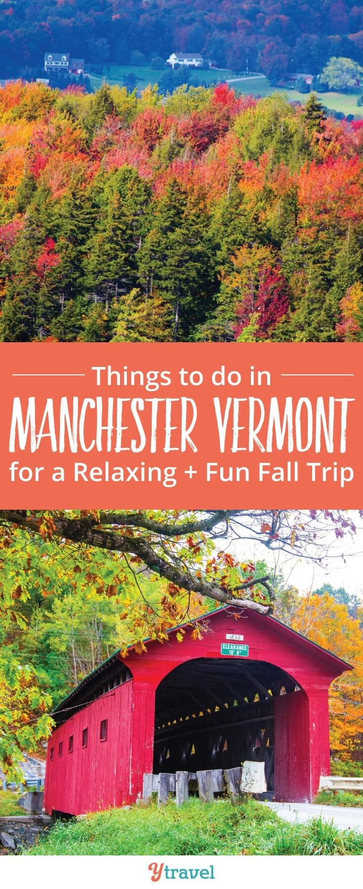 Planning a visit to New England in the Fall? Here are things to do in Manchester in the Green Mountains of Vermont with kids!