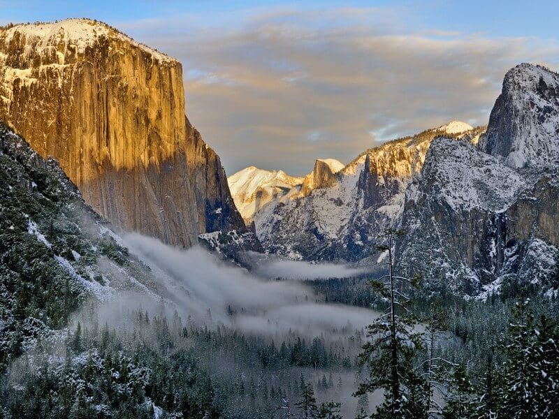 Yosemite National Park winter destination