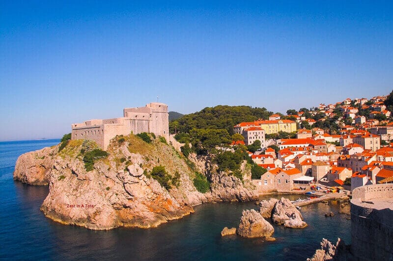 St. Lawrence Fortress (Croatian: Lovrijenac), often called Dubrovnik's Gibraltar, is located outside the western city walls. - things to do in Dubrovnik Croatia