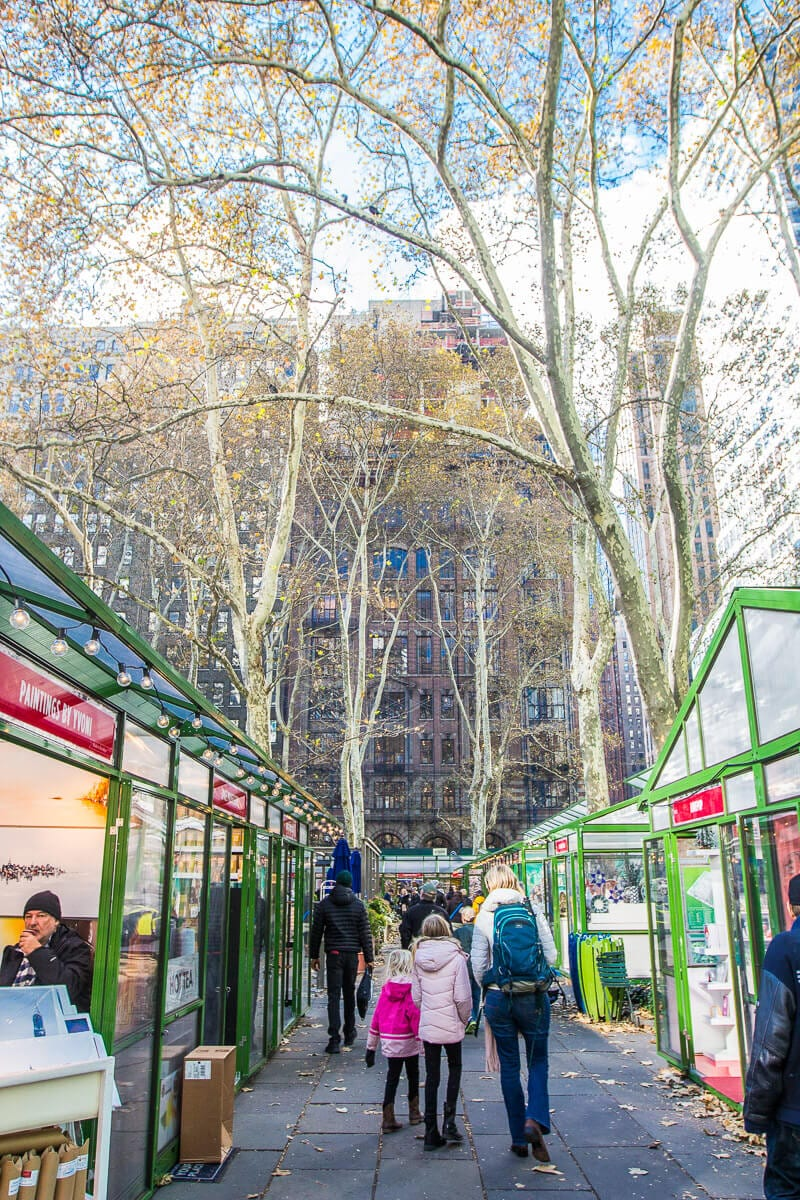 Bryant Park Winter Village Christmas markets