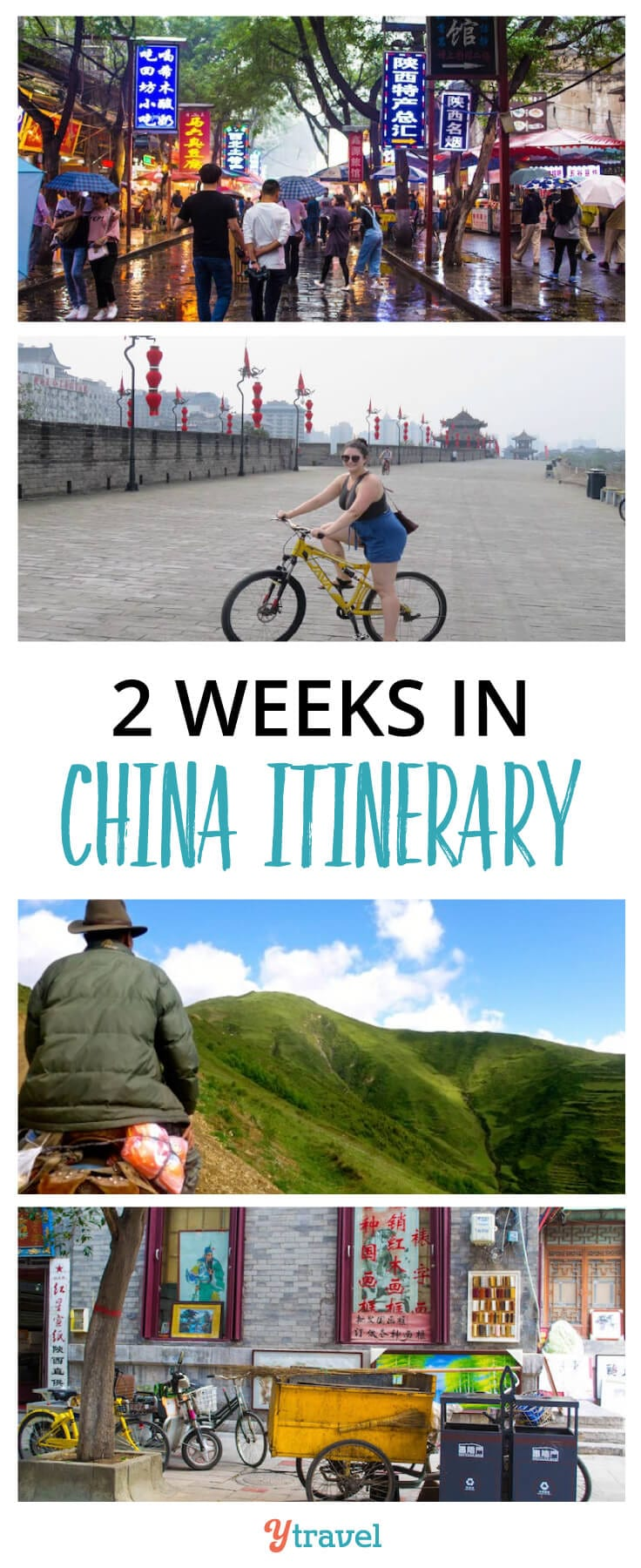 2 Week China Itinerary. Tips on the best places to visit in China, plus info on tours and accommodation.