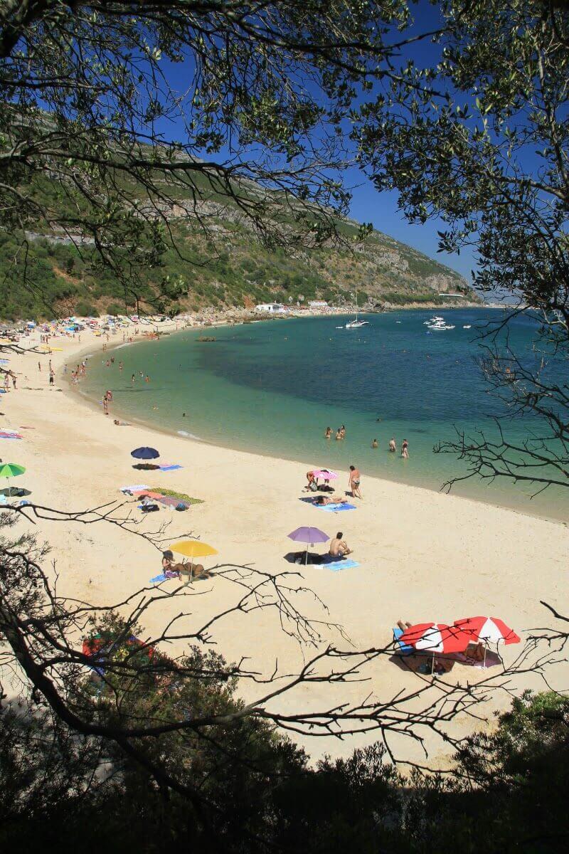 Praia de Galapinhos beach in Portugal.