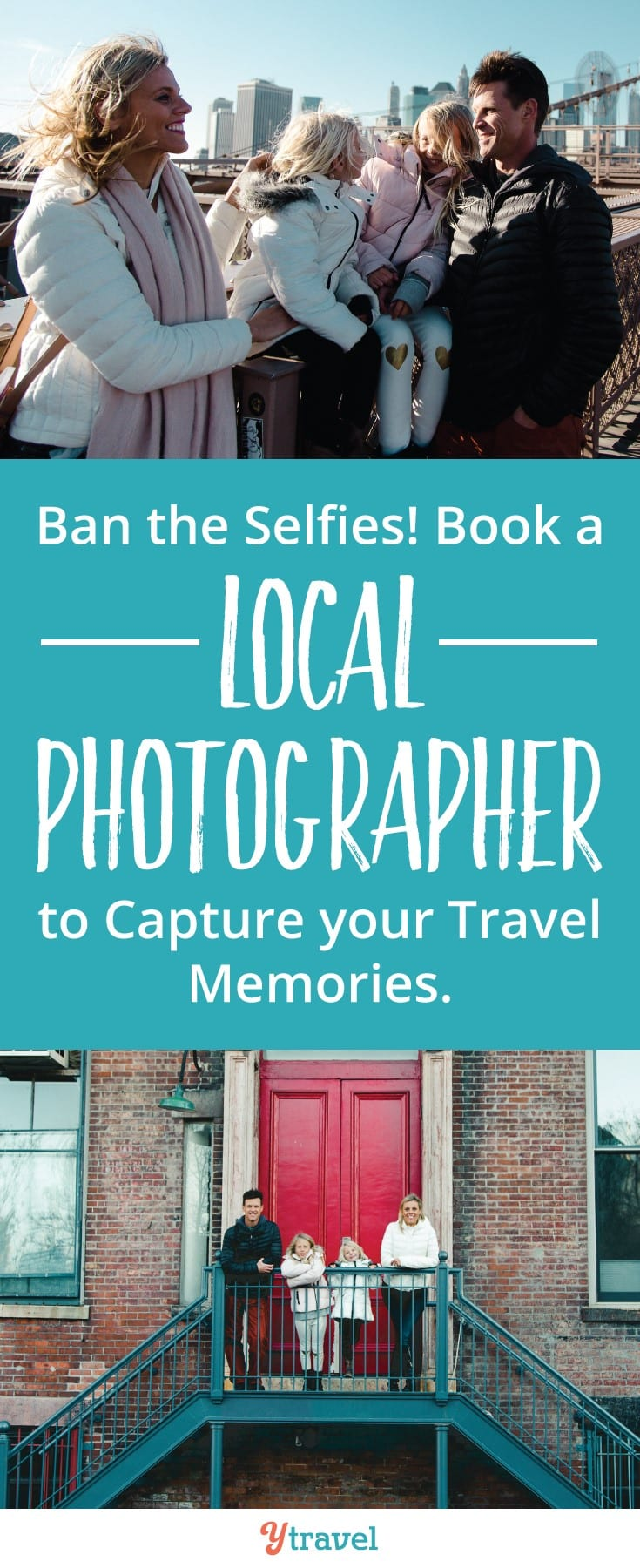 Book a local photographer to record your holiday memories. We experienced a local photography session with Wanderloud in New York City. I love looking at these professional photos of our travel memories now. It's a worthwhile experience. Read the post to learn more about how it works.
