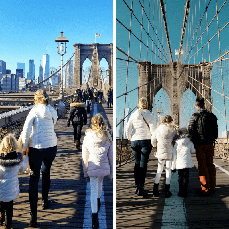 Brooklyn Bridge Walk - one of the best things to do in NYC with kids