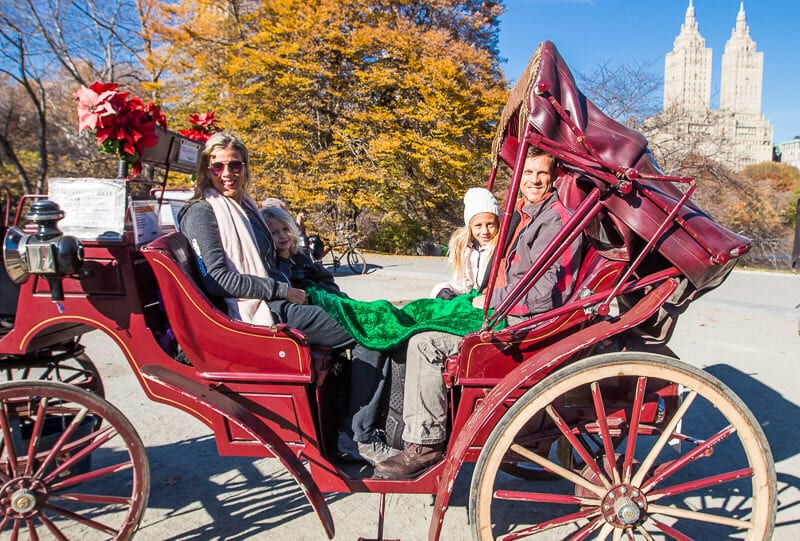 Horse and Carriage Ride in Central Park - one of the best things to do in NYC with kids