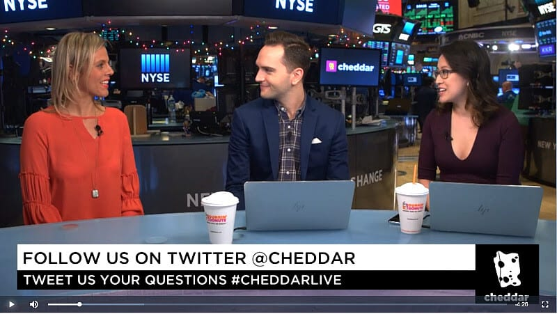 Cheddar TV interview