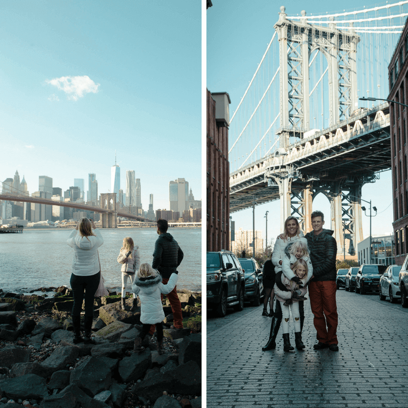 Views from DUMBO, Brooklyn - one of the best things to do in NYC with kids