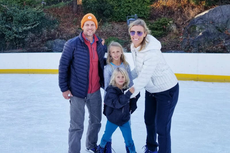 Go ice skating - one of the best things to do in NYC with kids