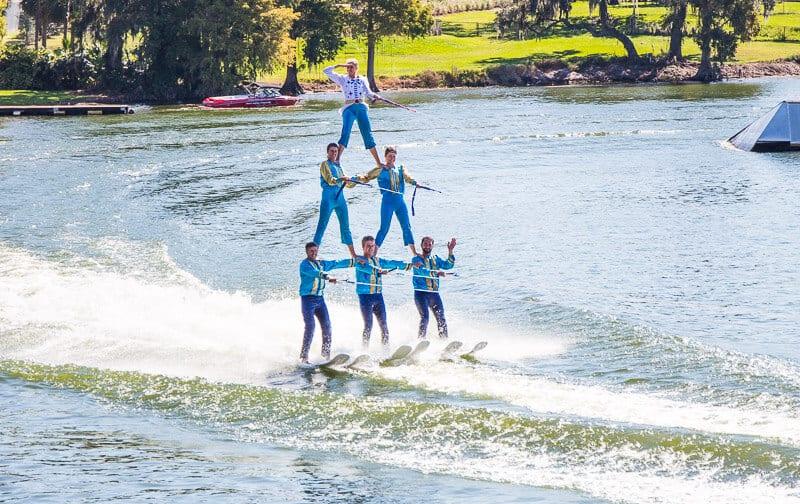 Water ski show at Legoland Florida